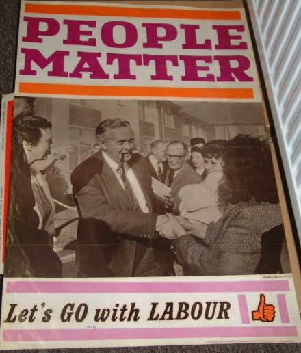 1964 Labour election poster on display at the People's History Museum