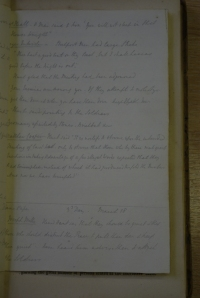 A page of William Hulton's notes taken during Hunt's trial.