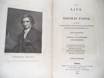 Clio Rickman's Life of Thomas Paine, Working Class Movement Library